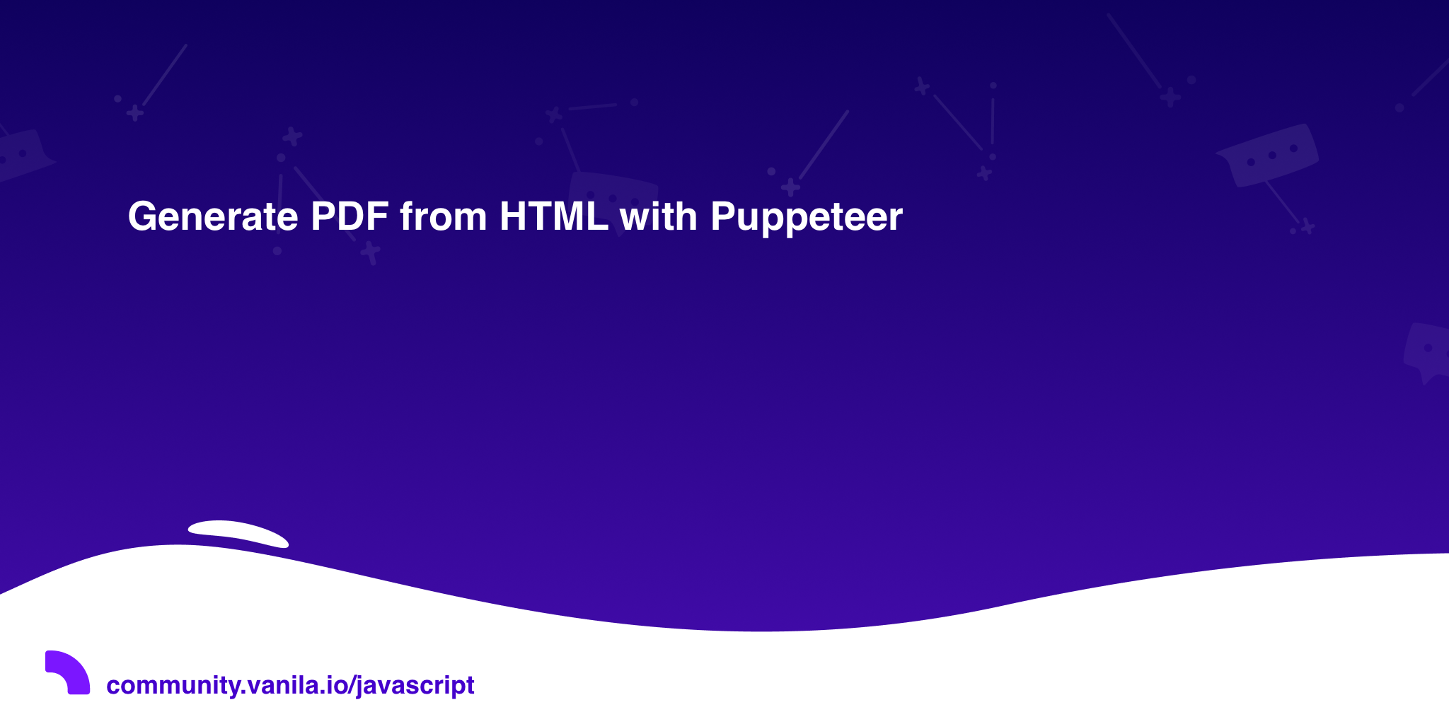 Generate PDF from HTML with Puppeteer · Javascript